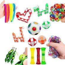Boule de décompression sensorielle pour enfant et adulte, 22 pièces, jouets de thérapie pour l'anxiété, l'autisme, le tdah, le soulagement du Stress, EDC