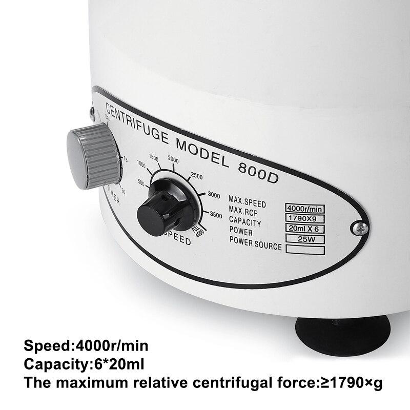 Профессиональная 4000 об/мин лабораторная электрическая центрифуга медицинская практическая машина низкоскоростная настольная центрифуга с таймером