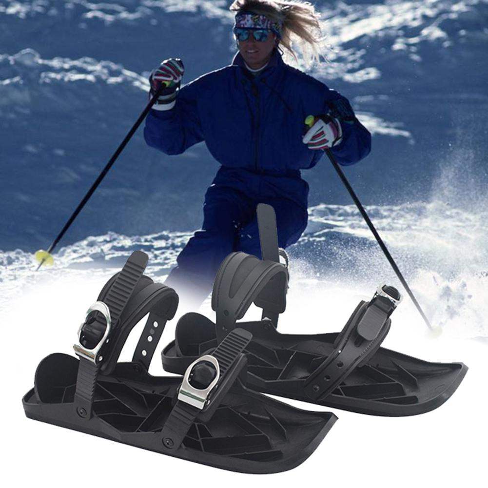 Adjustable Mini Sled Skates Outdoor Snowboard Skiing Boots Bindings Ski Shoes Snowboard Skiing Boots Bindings Ski Shoes Snowboar