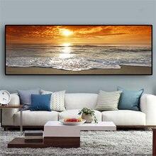 Grand ensemble de peinture de diamant en cristal, «coucher de soleil plage de mer naturelle», mosaïque de diamant, perceuse complète 3d, point de croix, art de paysage