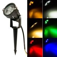 Освещение ландшафта Сид напольные света потока Спайк прожектор DC 12 в 110 в 220 в сад лампы класс защиты IP66 9 Вт RGB светодиодный свет лужайки