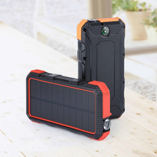 24000mAh Solar Power Bank 18W Fast Charging For iPhone 11 Pro Xiaomi Powerbank External Battery Waterproof Poverbank Flashlight