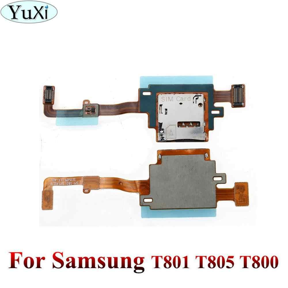 Yuxi untuk Samsung Galaxy Tab SM-T801 T801 T805 T800 Kartu SIM Reader Holder Tray Slot Soket FLEX Kabel