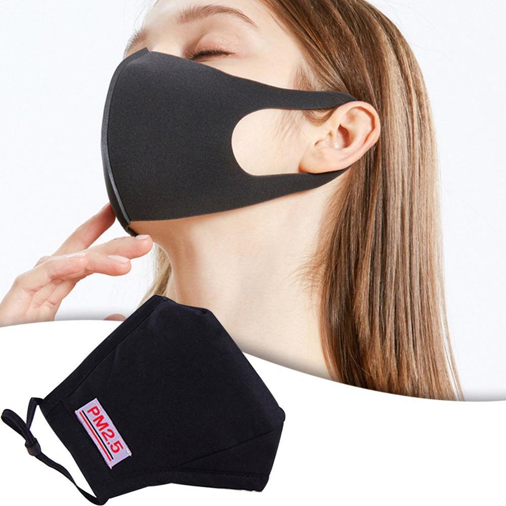 1/2pcs Washable Breathable Mask Cotton Fashion Safety Masks Anti Smog Pm2.5 Masks Dust-Proof Autumn And Winter Mask
