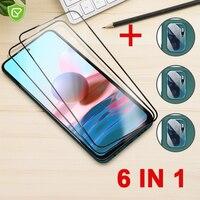6 in 1 için koruyucu cam xiaomi redmi note 10 pro ekran koruyucu lens kamera temperli cam redmi için K40 oyun 10s pro