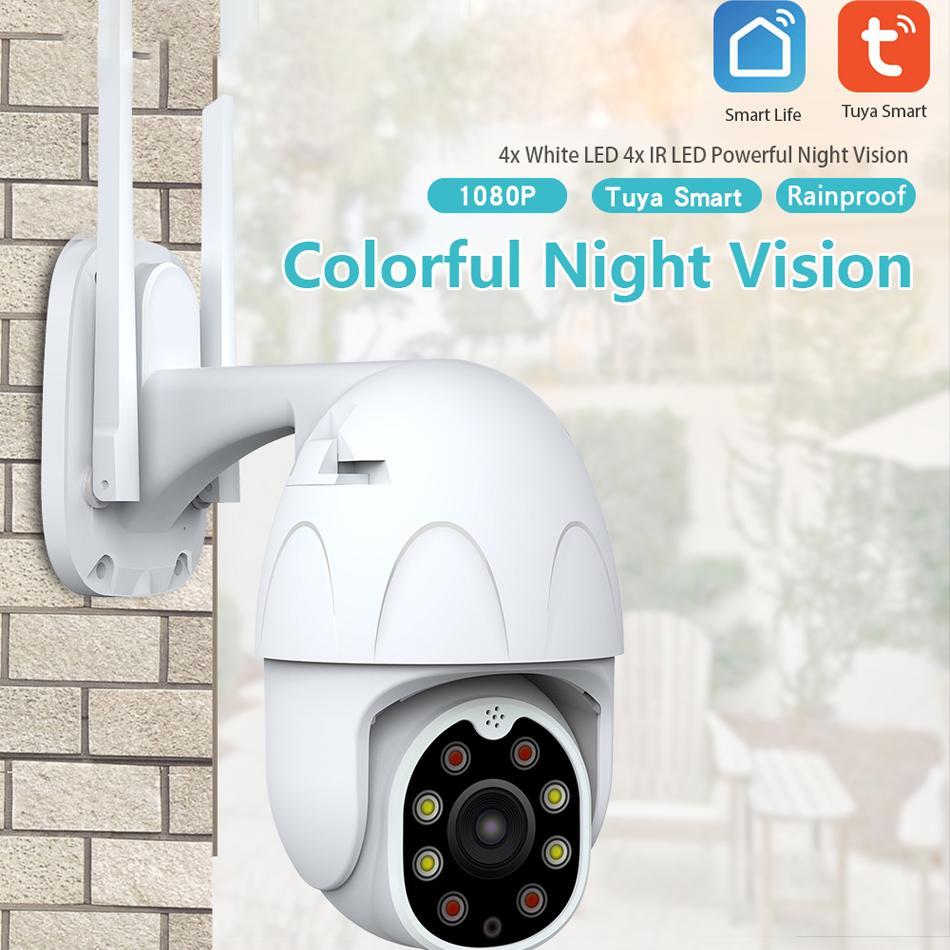 360 Degree Tuya WiFi Smart IP Camera Wireless Home Security HD 1080P IP Camera Two-way Audio Night Vision PTZ Motion Detection
