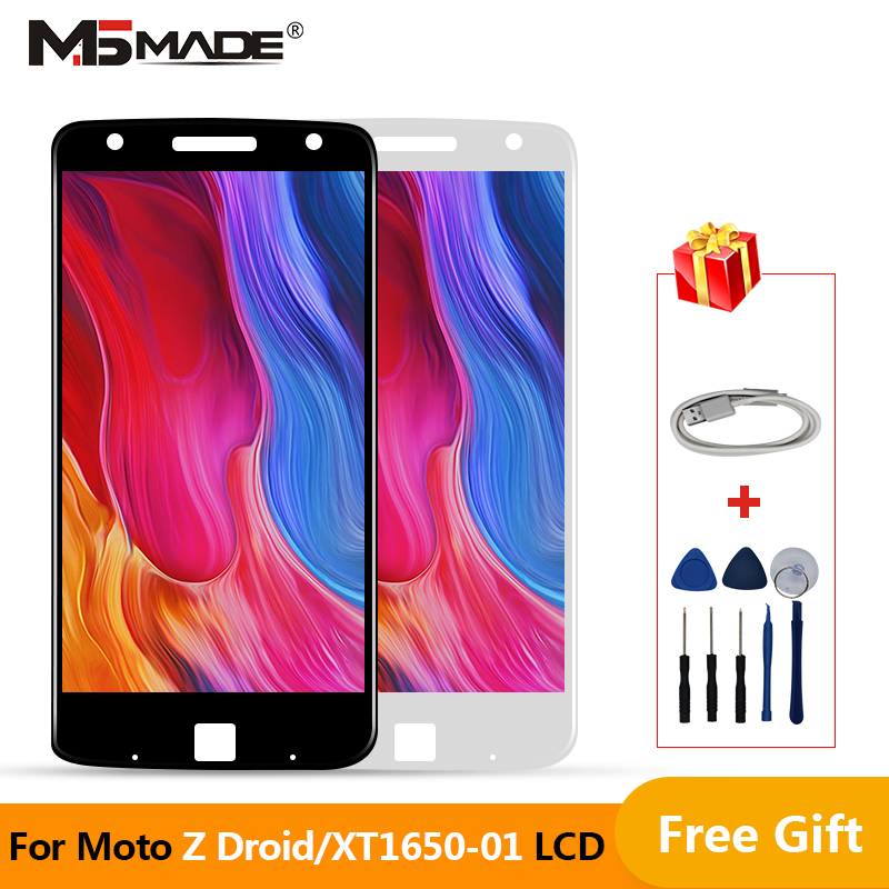 Amoled For Motorola Moto Z Droid <font><b>Xt1650</b></font>-01 <font><b>Xt1650</b></font>-03 <font><b>Lcd</b></font> Display+Touch Glass screen digitizer assembly For MOTO <font><b>Xt1650</b></font> Display image