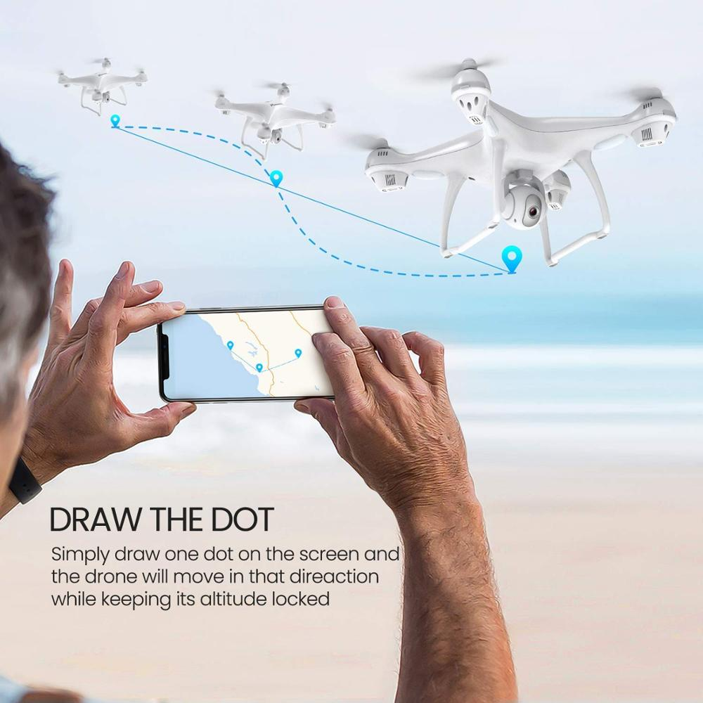 Potensic T35 GPS RC drone professional Brushless 5G Follow Me WiFi FPV 1080P HD camera VS Selfie Remote Control Quadcopter (GPS Drone)