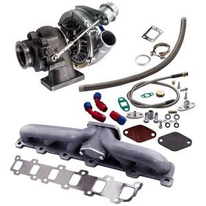 Image 2 - Manifold+Turbo charger for Nissan Safari Patrol TD42 TD42T1 GQ GU Y60 T3 T4 T04E Turbocharger .63 A/R .5A/R Internal Wastegate