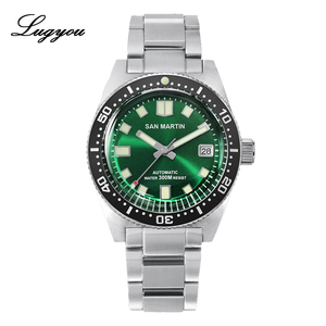 Image 2 - Lugyou San Martin 62Mas Diver Mechanical Automatic Men Watch Stainless Steel NH35 Ceramic Bezel Rubber Band Sapphire Glass