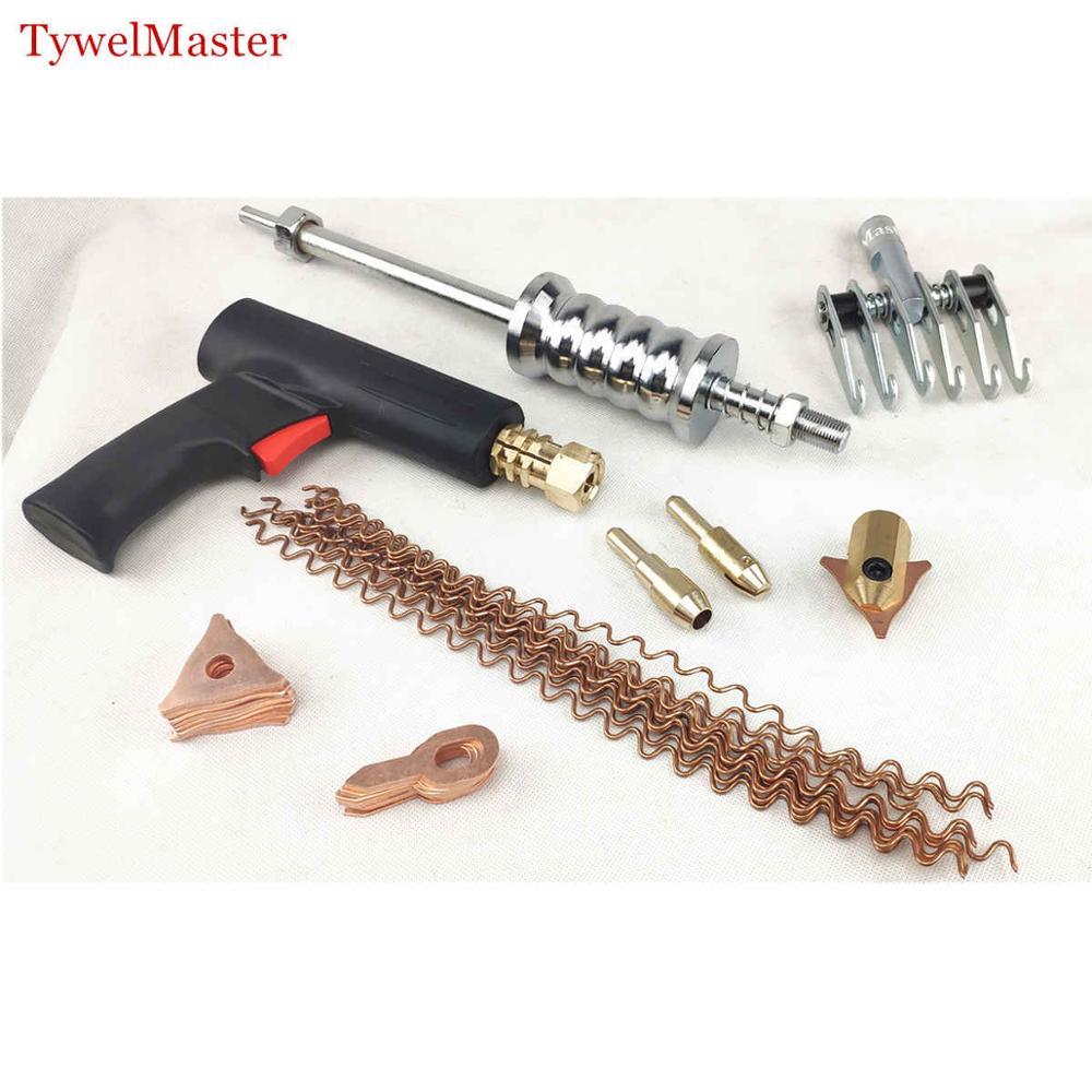 Dent Puller Kit 36pcs Spot Welding Electrode Holder Washer Hammer Spotter Gun Car Body Repair Tools