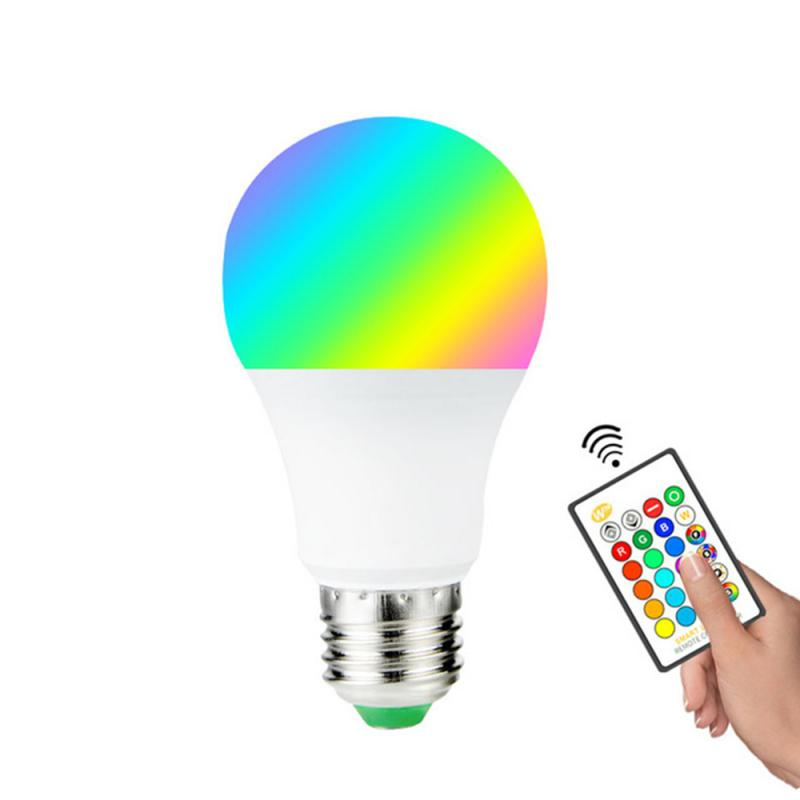Light Bulb 3W/5W/10W/15W RGB Magic Light Bulb Lamp Wake-Up Lights Compatible + IR Remote Control Dropshipping