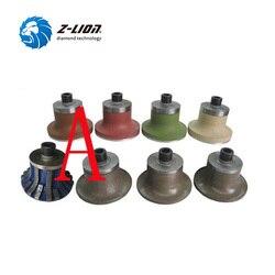 Z-LION 8 шт. алмазные профильные колеса A20 B20 E20 V20 фрезы M10 резьба мокрого использования мрамор гранит камень окантовка шлифовальный станок
