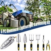 Juego herramientas de jardinería de seis piezas, combinación de aluminio ligero, juego herramientas de jardinería, jardín, regalo, accesorios de decoración del hogar
