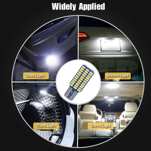 Image 2 - 5x 자동차 LED T10 192 194 168 W5W LED 전구 33 SMD 3014 테일 라이트 돔 램프 화이트 DC 12V Canbus 오류 무료 자동차 액세서리