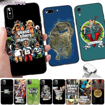 TOPLBPCS Special Gta Grand Theft Auto 5 V San Andreas phone Case cover for iPhone 8 7 6 6S Plus X 5S SE 2020 XR 11 12 pro XS MAX image