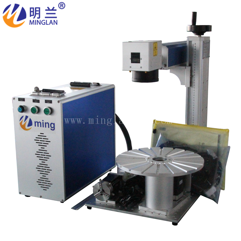 20W 30W RAYCUS Split Type Fiber Laser Marking Machine With Rotary Have Good Price And High Quality