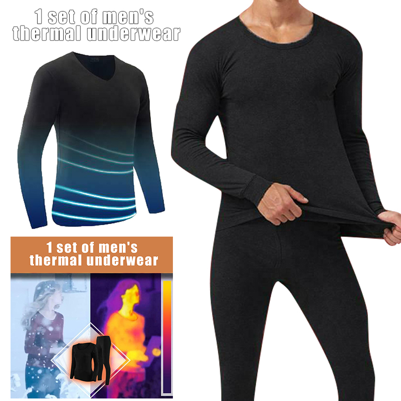 Newly 2019 Fashion Winter Women Men Seamless Elastic Suit Thermals Inner Wear Solid Color Warm Slim Underwear Pants Suits
