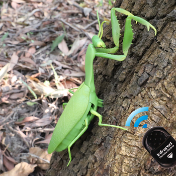 Infrared RC Remote Control Realistic Mini Mantis Insect Scary Trick Toy Simulation Animal Funny Prank Kids For Children Toy Gift