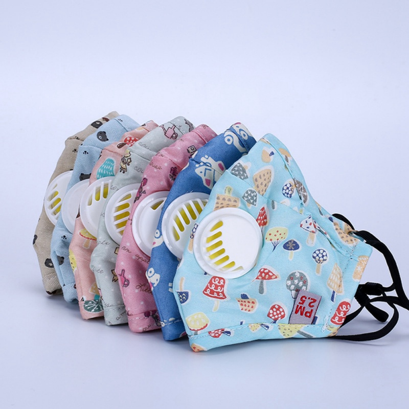 2pcs/1pc Baby Care Set Cartoon Cute PM2.5 Anti-Dust Disposable Mouth Face Mask For Kids Cotton Masks With Filter Respiration New