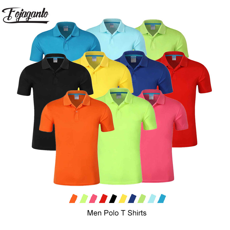 FOJAGANTO Fashion Brand Men Solid Polo Shirt Tops Summer New Men's Casual Polo Shirt Comfortable Lapel Polo Shirt Male