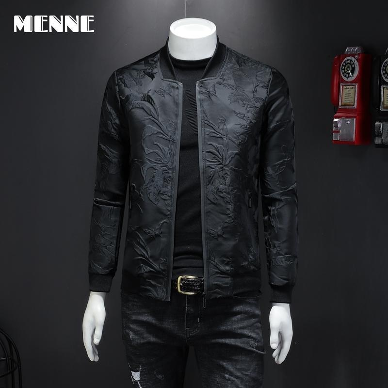 MENNE 2020 New men jacket embroidery jacket men zipper coat|Jackets| - AliExpress