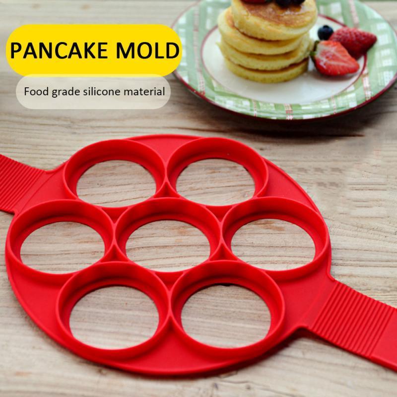 Fried egg panquecas antiaderente, ferramenta de cozinha redonda para ovo, panquecas, molde para ovos, acessórios de cozinha