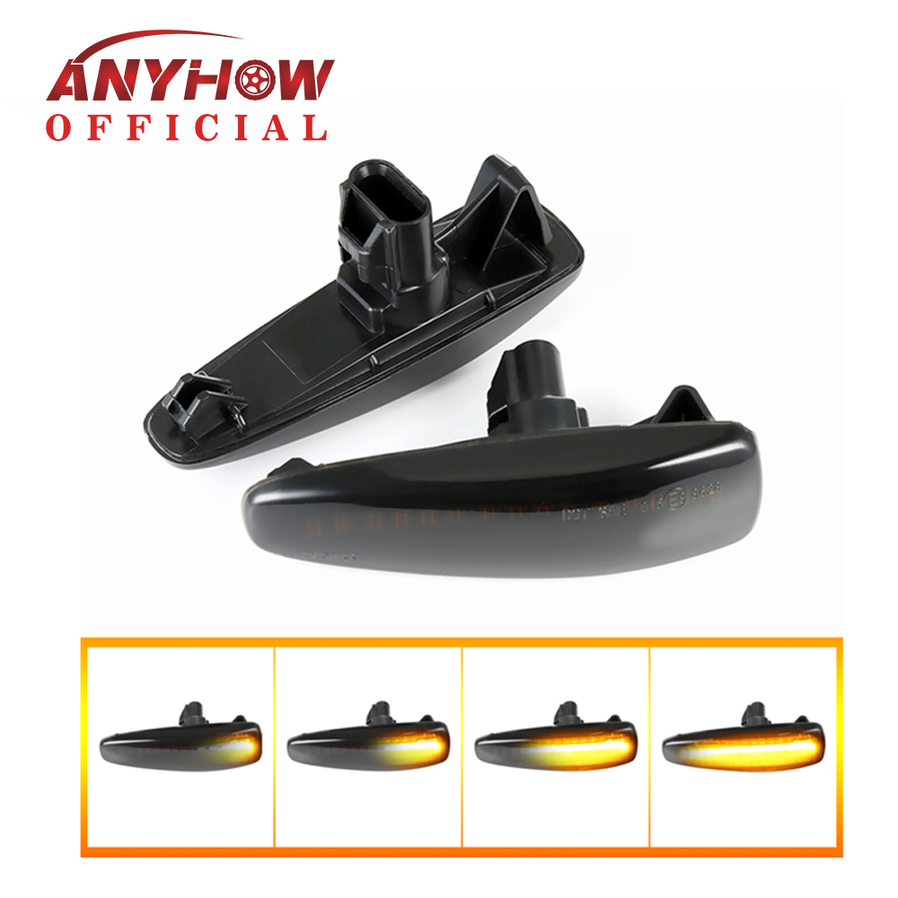 <font><b>LED</b></font> Fender Dynamic Turn Signal Light Side Marker Lamp For <font><b>Mitsubishi</b></font> <font><b>Lancer</b></font> Evolution Evo <font><b>X</b></font> Outlander Sport RVR ASX Mirage 2014+ image
