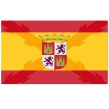 Banda histórica espanhola e de la cruz de boguña de castela 2x 3ft/3x 5ft/4x6ft poliéster bandeira de bronze grommets para decoração