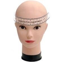 1PC Reusable Semi-permanent Eyebrow Ruler Measuring Tool Manual Micro Blading Caliper Stencil Makeup Tools