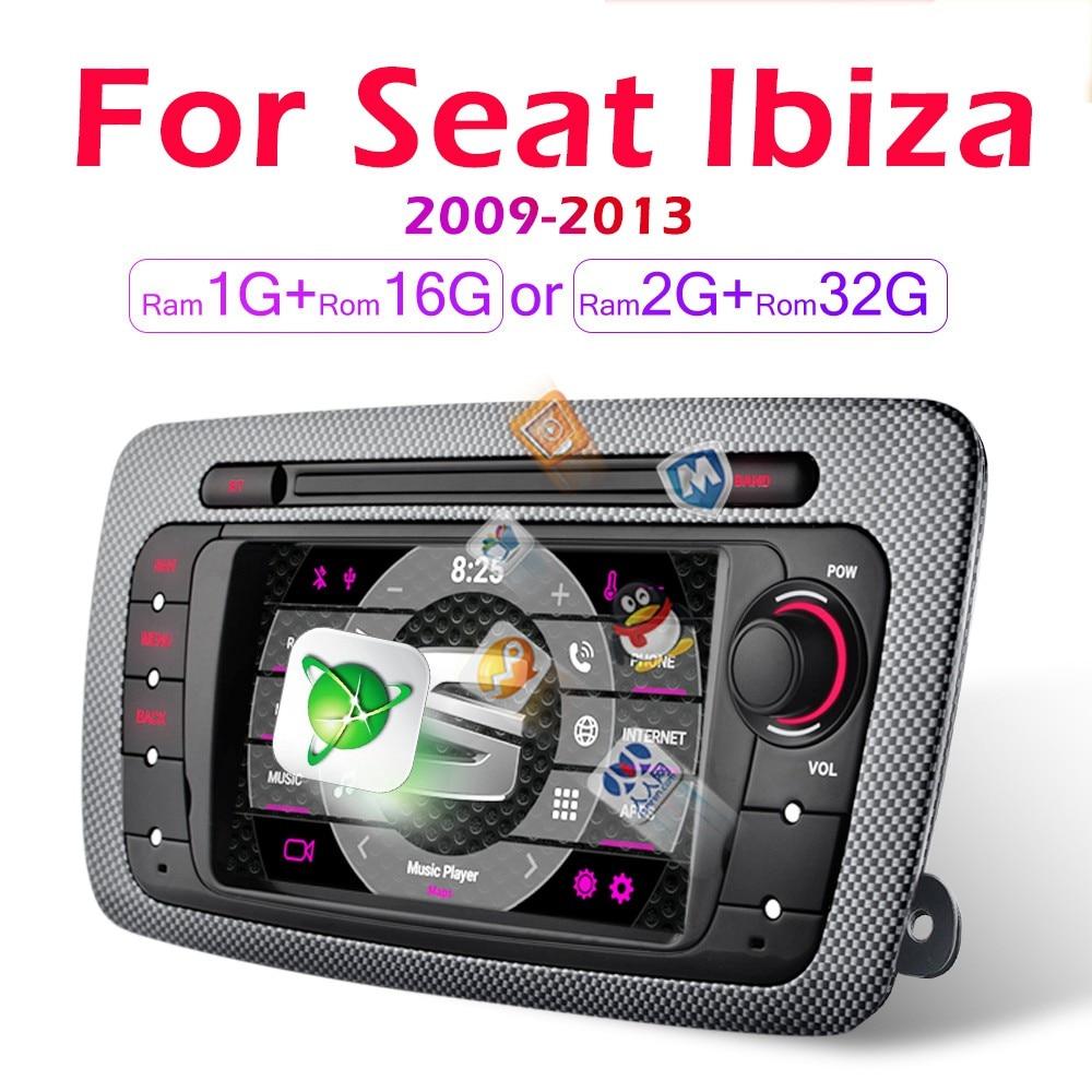 Radio Multimedia con GPS para coche, Radio con reproductor de vídeo, Android, 2 Din, para Seat Ibiza 6j, 2009, 2010, 2011, 2012, 2013, SIN dvd
