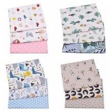 3 séries florais dos animais dos pces, tela do algodão da sarja 100% para o bebê & a criança, roupa de costura estofando lençóis de cama material pano de retalhos