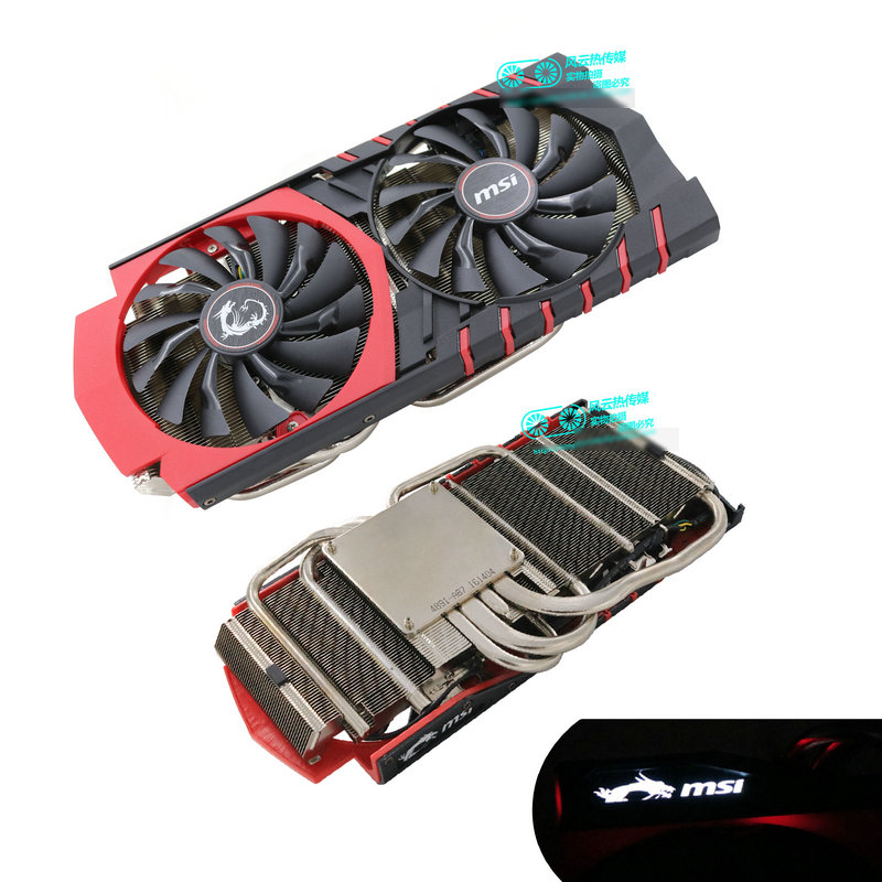 New Original For MSI GTX980 Graphics Card Cooler Fan With Heat Sink
