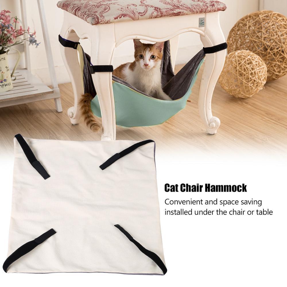 Cat Hammock Pet Hanging Beds Soft Under Chair Table Hammocks Cat Bed Mat Pet Kitten Cage Bed Cover Cushion|Cat Beds & Mats|   - AliExpress