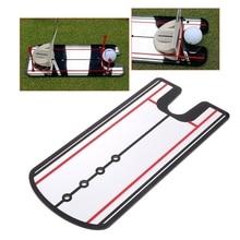 цена Golf Swing Practice Putting Mirror Alignment Training Aid Eye Line онлайн в 2017 году