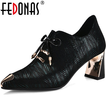 FEDONAS Kid Suede Butterfly Knot Women Shoes 2020 Summer Spring Vintage High Heels Pumps Classic Design Back Zipper Shoes Woman