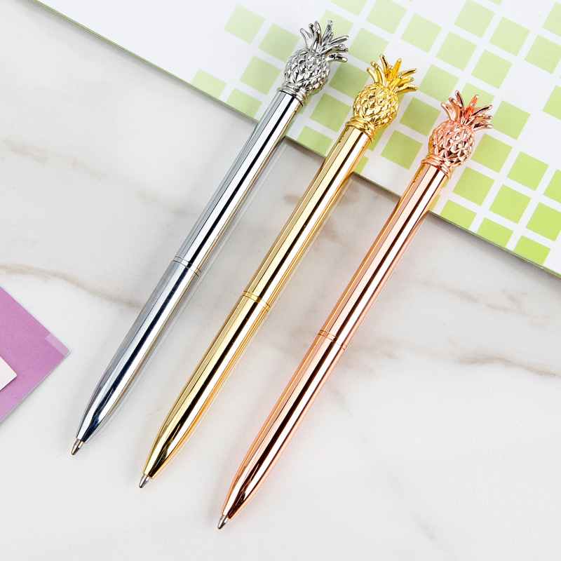 Creative Pineapple Han Edition Stationery Gift Pen Spot Metal Pen Ball-point Pen Ball-point Pen Sell Like Hot Cakes
