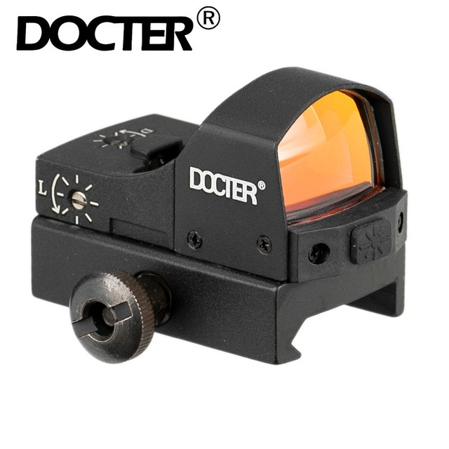 Docteur point rouge portée de vue tactique Mini Compact holographique réglable luminosité Micro Reflex lumière fusil pistolet chasse
