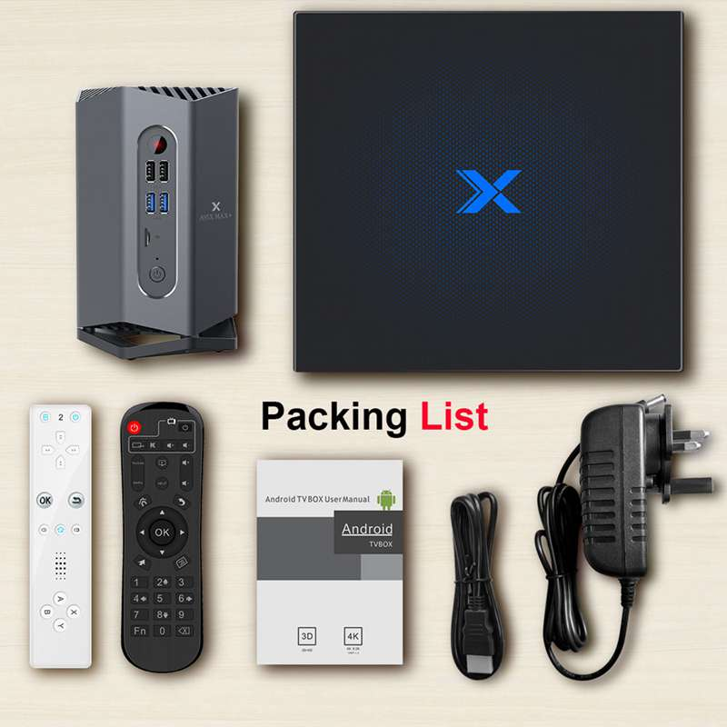 A95X Max Plus+ Android 9.0 TV Box Amlogic S922X 4GB RAM 64GB ROM Android 9.0 5G WIFI BT 4.2 With Sensor/bluetooth Gamepad