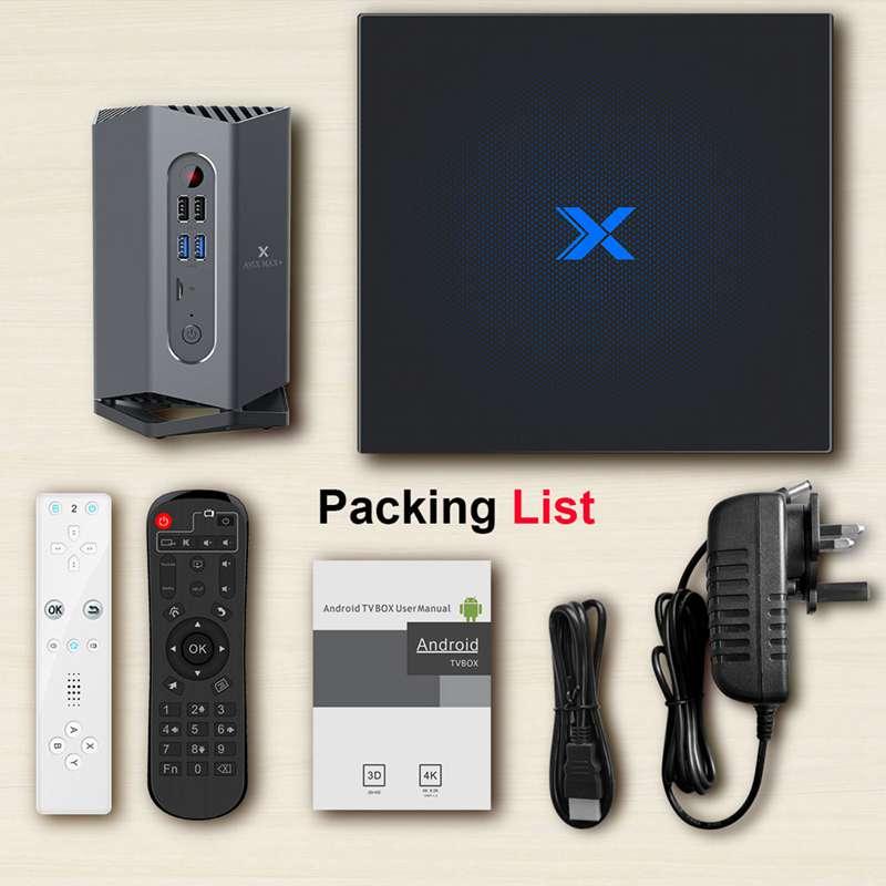 A95X Max Plus+ Android 9.0 TV Box Amlogic S922X 4GB RAM 64GB ROM Android 9.0 5G WIFI BT 4.2 with Sensor/bluetooth Gamepad(China)