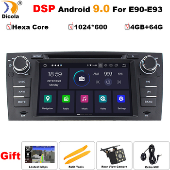 "PX6 DSP Hexa Core Android 9 For BMW E90 E91 E92 E93 Stereo Head Unit 7"" Car DVD Player GPS Sat Nav Radio BT USB RDS AM/FM SWC"