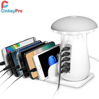 CinkeyPro USB Charger with LED Lamp Quick Charge 3.0 Fast Charging for Samsung iPad iPhone Tablet Adapter Universal