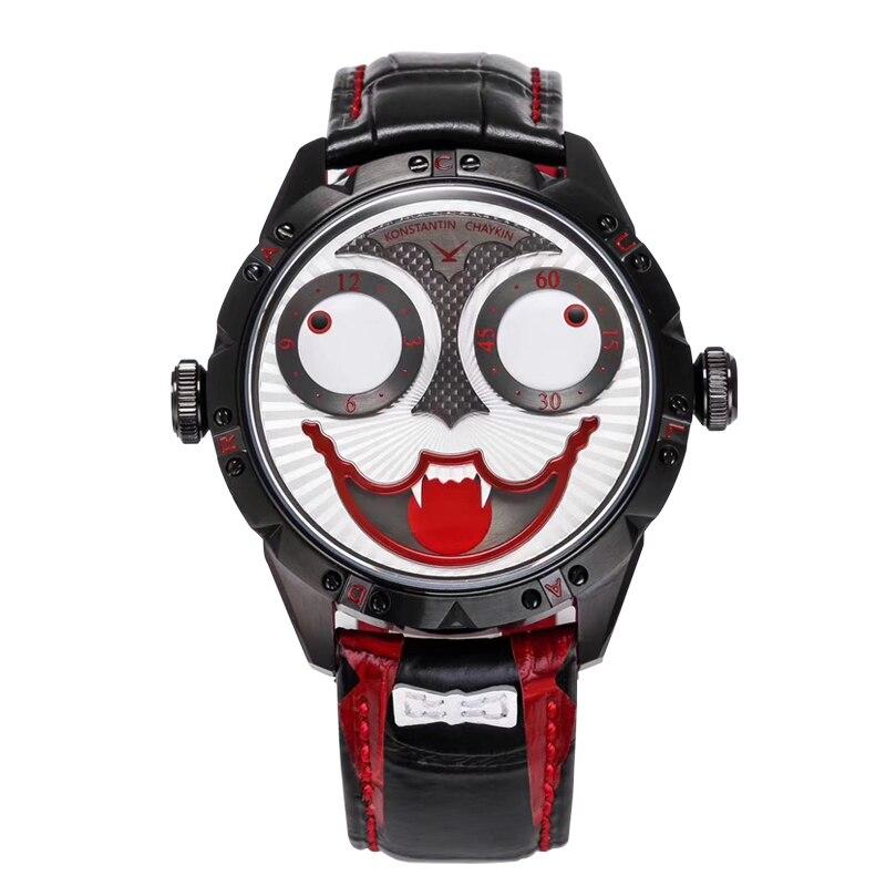 Black Vampire Watch Exclusive Original Brand Clown Watch Men Mechanical Watch Leather Luxury Designer Design Joker Watch 2020