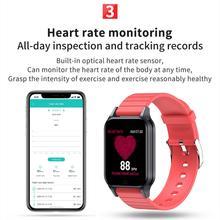Inteligentny zegarek temperatury ciała T96 pomiar ciśnienia krwi tętno inteligentna bransoletka Bluetooth dla androida i IOS
