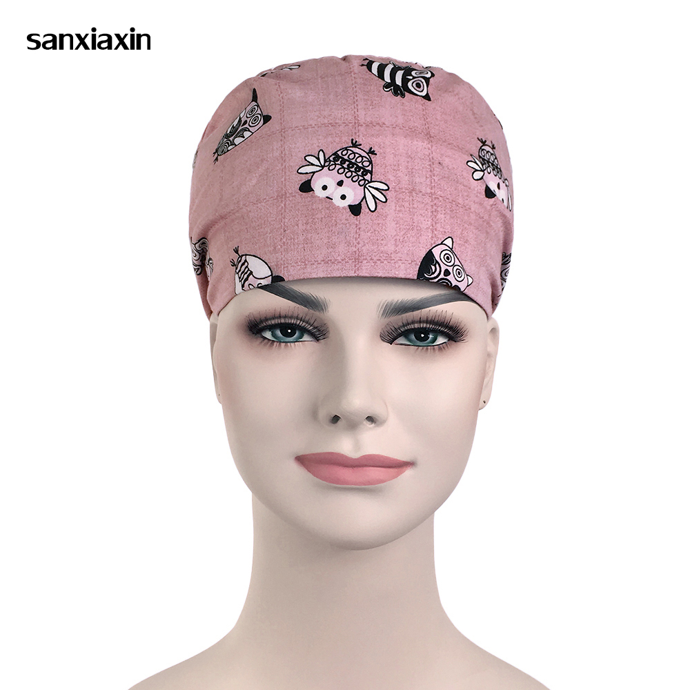 Medical Cap Hospital Laser Eye Operating Room Work Cap Surgical Elastic Bandage Unisex Surgical Cap Surgery Nurse Doctor Hat