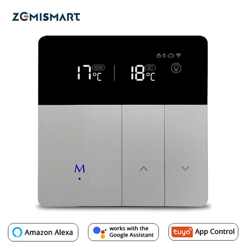 WiFi термостат для электрического напольного отопления Tuya Alexa Google домашний контроль теплый подогреватель пола термостат 16A 110В 240В|Системы обогрева пола и запчасти|   | АлиЭкспресс