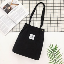 Women Solid Corduroy Shoulder Bags Shopping Bag Tote Package Crossbody Purses Casual Handbag For Bookbag