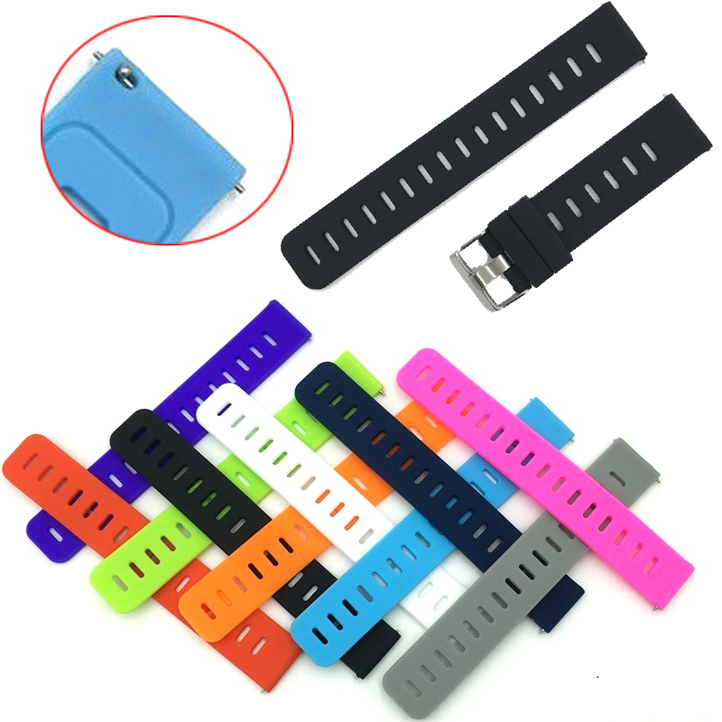 Sport Silicone 20mm strap for <font><b>Moto</b></font> <font><b>360</b></font> 42mm /Pebble time Round/LG watch Sport/Ticwatch 2/Ticwatch E watch Accessories watch <font><b>band</b></font> image