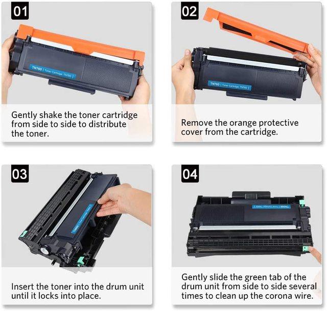 V4INK 2PK TN660 Toner Cartridge and 1PK DR630 Drum Set for Brother HL-L2340DW L2380DW MFC-L2700DW DCP-L2540DW