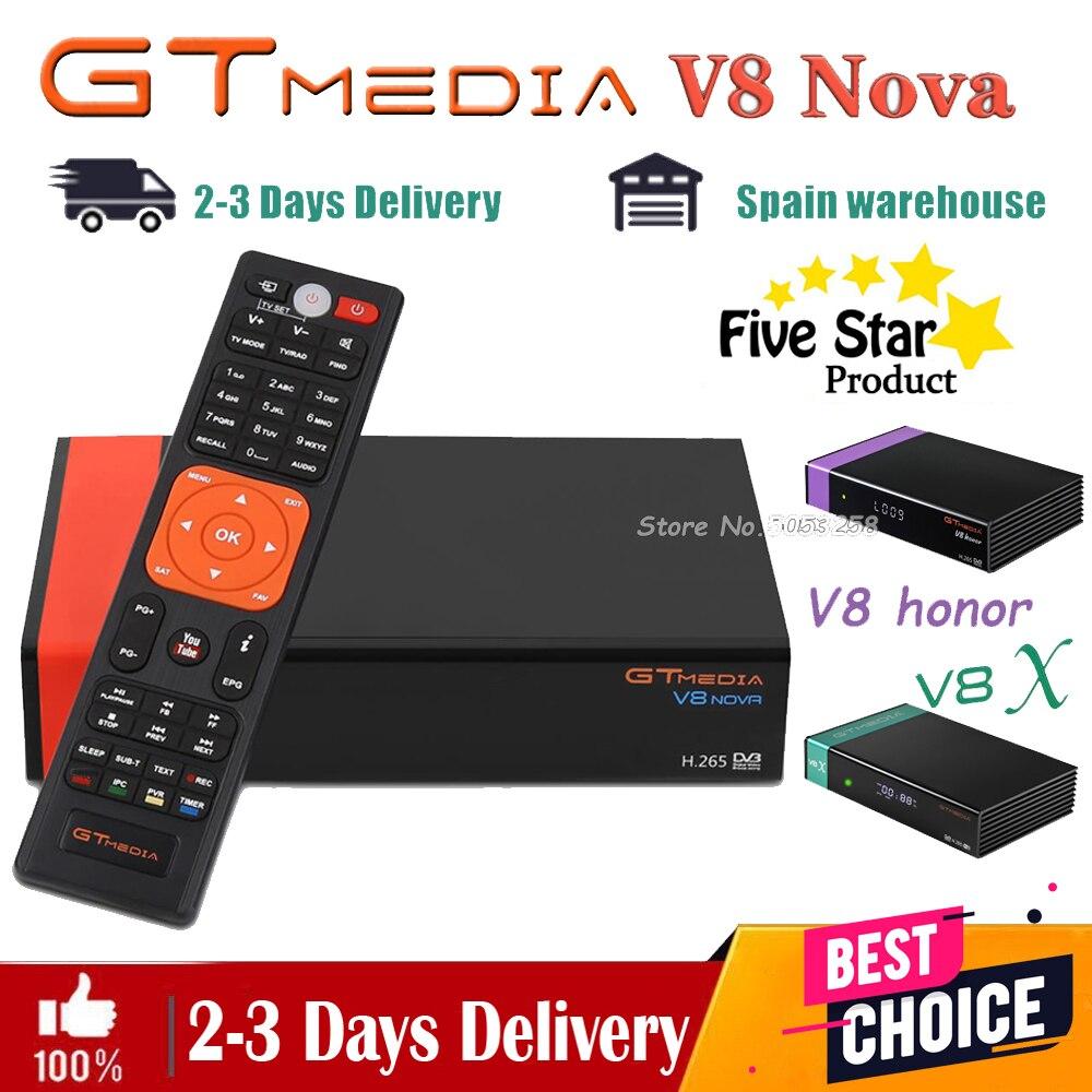 Спутниковый приемник Gtmedia v8 nova Gtmedia v8X, приемник отправляется из Испании быстро, как Gtmedia V9, супер DVB-s2 full hd